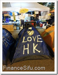 Occupy Central 'Umbrella Square'