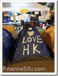 Occupy Central 'Umbrella Square'