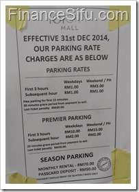 IOI City Mall Parking Rate