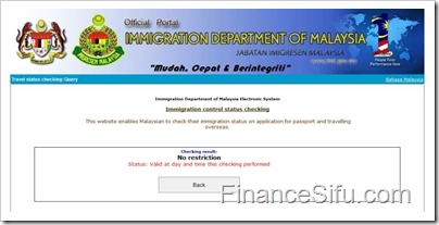 Check Your Immigration Status Online Before Travelling Overseas Finance Sifu